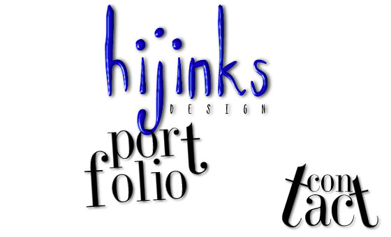 hijinks design: portfolio and contact 